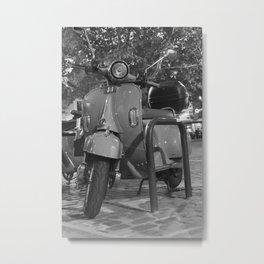 Vintage Scooter Bike Metal Print