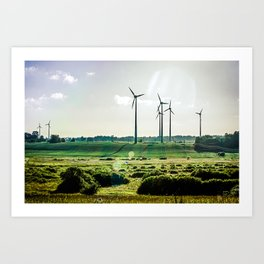 Wind generators Art Print
