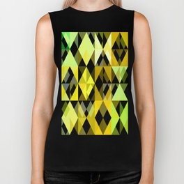 Pale Yellow Poinsettia 1 Abstract Triangles 1 Biker Tank