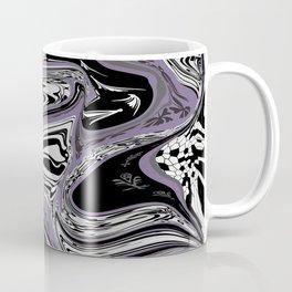 Black violet marble design pattern Coffee Mug