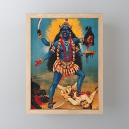 Kali - Hindu Framed Mini Art Print