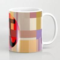 pi Mugs featuring Geometric Pi  by Vi Sion