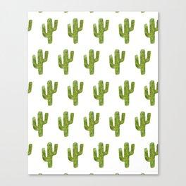 Geometric Cactus Canvas Print