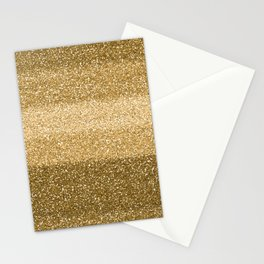 Glitter Glittery Copper Bronze Gold Stationery Cards