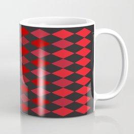 Red Argyle Pattern - Smaller Diamonds Coffee Mug