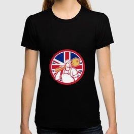 British Locksmith Union Jack Flag Icon T-shirt