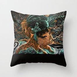 Glow Worms Throw Pillow