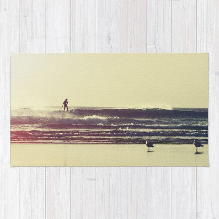 Sunset Surfers Rug