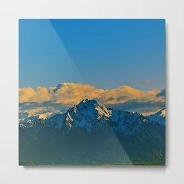 Pioneer Peak - Mat-Su Valley Metal Print