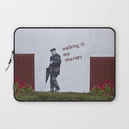 A Gentleman goes walking; Camino to Santiago de Compostela Laptop Sleeve