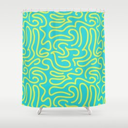 Electric Squiggle Shower Curtain