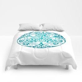 St. Patrick's Day Celtic Blue Mandala #6 Comforters