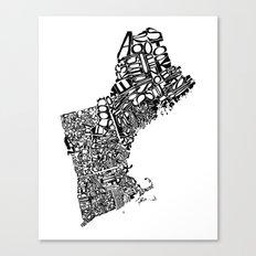 Typographic New England Canvas Print