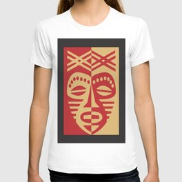 African Tribal Mask No. 3 T-shirt
