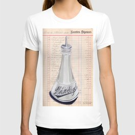 Milk Glass Witch Hazel Bottle in Gouache T-shirt