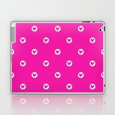 Little pink hearts Laptop & iPad Skin