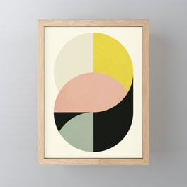 Abstract Circles Framed Mini Art Print