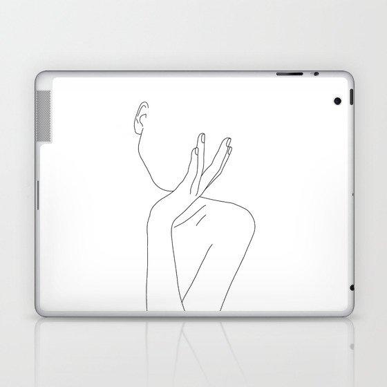 Woman's body line drawing illustration - Darla Laptop & iPad Skin