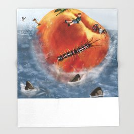 James And The Giant Peach. Throw Blanket