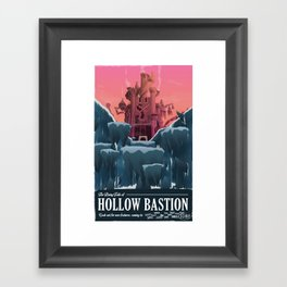 Hollow Bastion (Kingdom Hearts) Travel Poster Framed Art Print