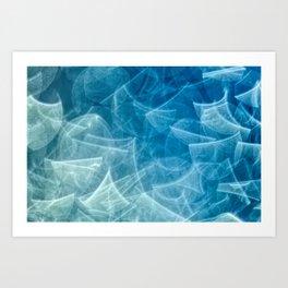 blueish something Art Print