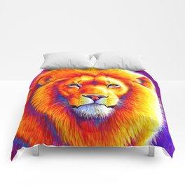 Sunset on the Savanna - African Lion Comforters