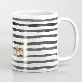 Stay Gold // Stripe Coffee Mug