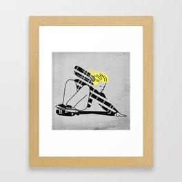 Shred In Peace Framed Art Print