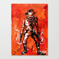 western Canvas Prints featuring Western by Tom Ryan