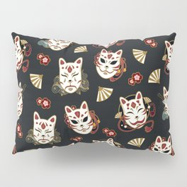 Kitsune Mood Masks Pillow Sham