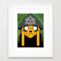 crowley Framed Art Prints featuring Jake Crowley by Conversa entre Adeptus