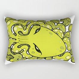 Octopus Squid Kraken Cthulhu Sea Creature - Lime Punch Rectangular Pillow