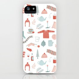 Hygge Cosy Things iPhone Case