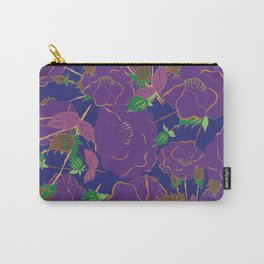 Ultra Violet Rosebush Carry-All Pouch