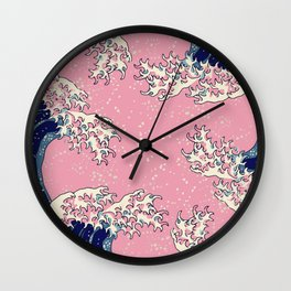 Wavy - The Great Wave Reimagined Wall Clock
