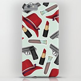 Peggy Carter Pattern iPhone Case