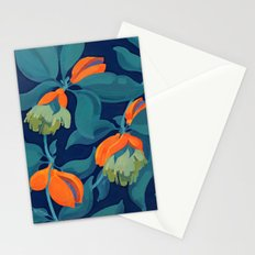 Tropical orange fruit tree Stationery Cards