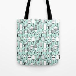 Buoyant Designs in Green Tote Bag