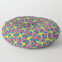 Mix of flag: norway and sweden Floor Pillow