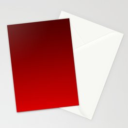 Bright red gradient, Ombre. Stationery Cards