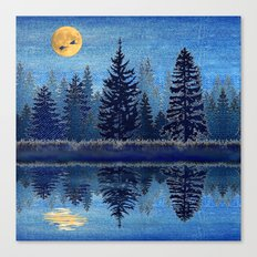 Denim Design Pine Barrens Reflection Canvas Print