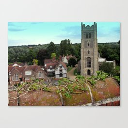 Church and Guildhall, Eye, UK Canvas Print