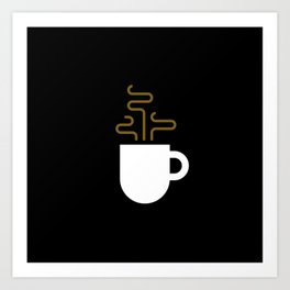 Coffee Cup Black Art Print