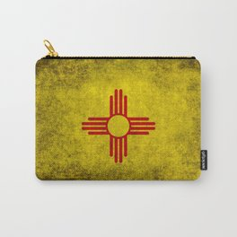 Flag of New Mexico - vintage retro style Carry-All Pouch