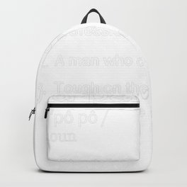 Papaw Definition T - Father's Day Tee Backpack
