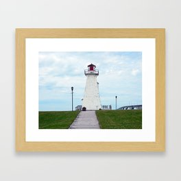 Marine Rail Park Range Light Framed Art Print
