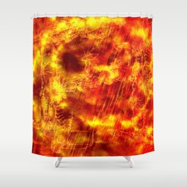 Fire of the Deep Sea. Shower Curtain