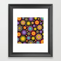 Bright And Colorful Flowers Framed Art Print