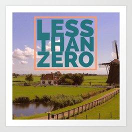 Less Than Zero poster Art Print