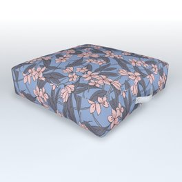 Sakura Branch Pattern - Rose Quartz + Serenity Outdoor Floor Cushion